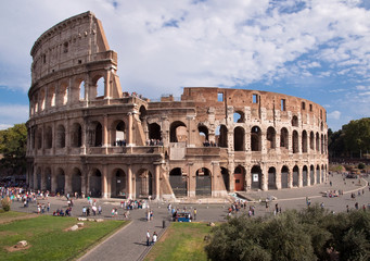 Wall Mural - Coliseum view from Foro Romano - Roma - Italy