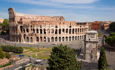 Fotomurales - Coliseum and Constantine Arc  - Roma - Italy