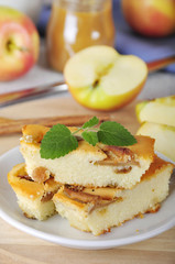 Cottage cheese and apple pie