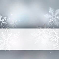 Abstract winter background with copyspace