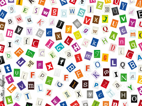 Lettres Découpées Stock Photo And Royalty Free Images On