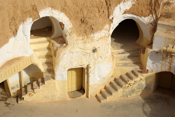 "Scenery for the film ""Star Wars"", Tunisia"