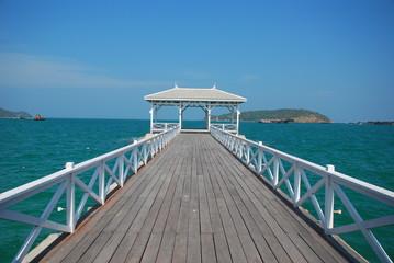 Wood Bridge, The Bridge at Sichang Island, Thailand