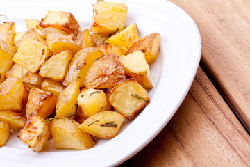 baked potato with rosemary
