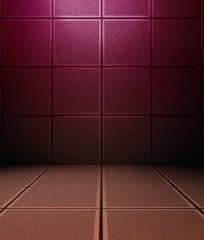 3d concrete or metal tiles