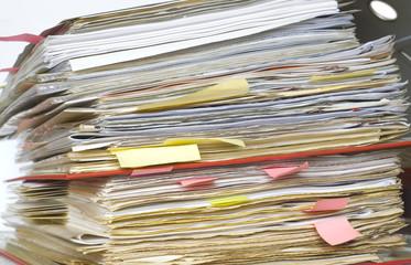 file folder, close up, a little bit messy