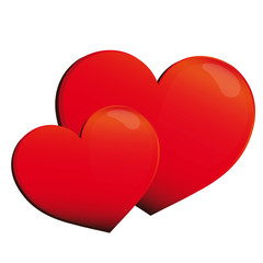 heart, hearts, red, background