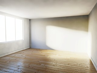 Empty room, 3d house interior