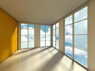 Empty room, 3d house interior