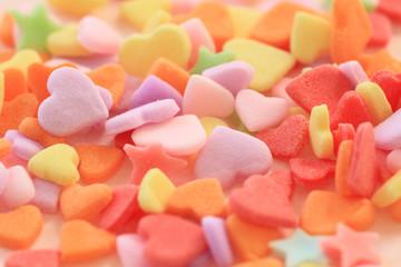 ハートの形の砂糖菓子