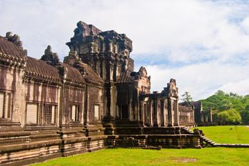 One of the gates at the west gopura, Angkor Wat, Cambodia