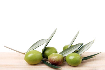 Wall Mural - Olive branch and olives - Ramoscelli di ulivo e olive