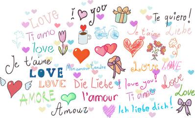 I love you! set