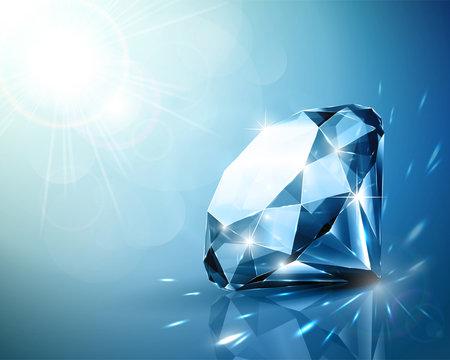 Shimmering diamond background