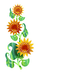 Watercolor Sunflower Banner