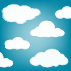 Printed roller blinds Heaven Sky background with transparent clouds.