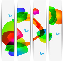 abstract colorful banner set designs