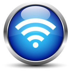 Wifi Button Blau