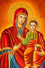 Stylized image of the Virgin