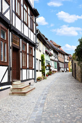 Wall Mural - Old german street