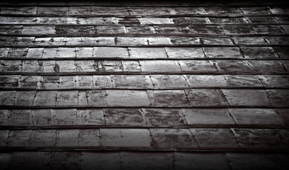 Old weathered dark metal wall background texture