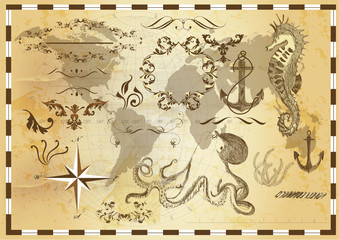 Collection of sea elements