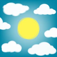 Keuken foto achterwand Hemel Sky background with transparent clouds and sun.