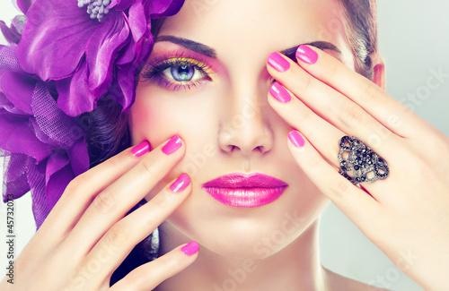 Fototapete pink make up