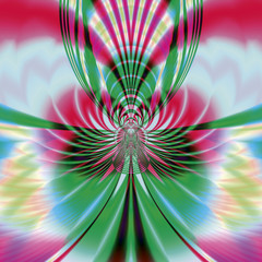 Photo sur Aluminium Psychedelique Butterfly