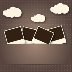 Vintage Photo Frame With Cloud