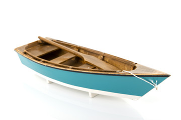 Blue rowing boat