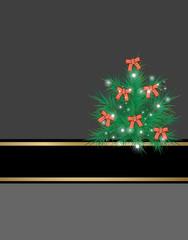 Christmas tree on banner