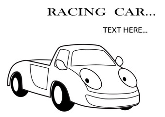 Car racing cartoon