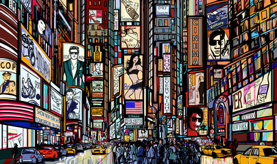 Photo sur Plexiglas Art Studio street in New York city