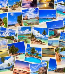 Stack of summer beach shots