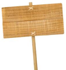panneau en bois vide, wooden sign