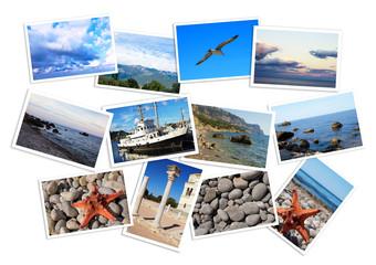 set of travel photos