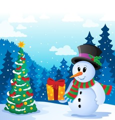 Winter snowman theme image 5