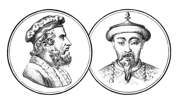 Marco Polo & Kubilai Khan - 13th century
