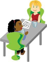 2 women meeting