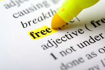 highlighting the word free