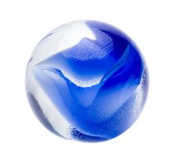 Blaue Glasmurmel