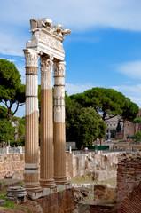 Fototapete - Columns at foro romano - Roma - Italy