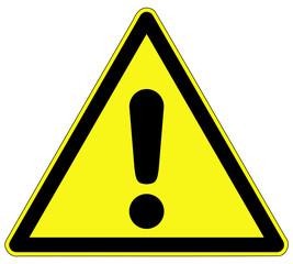 Warnzeichen - Gefahrenstelle