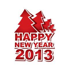 New Year 2013, Christmas tree