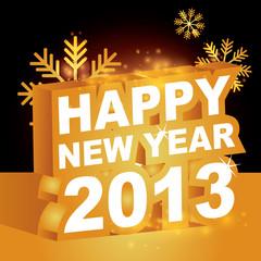 3D vector , Happy new year 2013