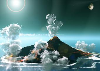 Vulcano isola eruzione