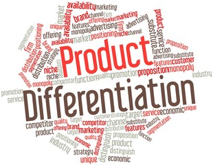 Word cloud for Product Differentiation