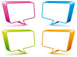Box di comunicazione in colori brillanti