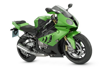 Aluminium Prints Motorcycle Green Sport Motorcycle
